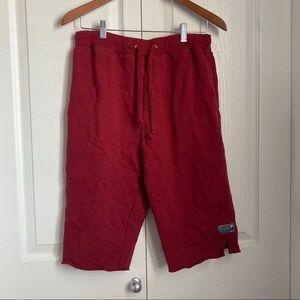 Red Disneyland men's sweat shorts